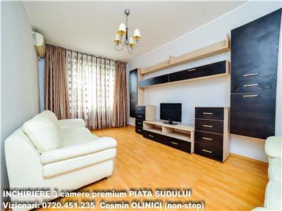 Inchiriere apartament 3 camere modern PIATA SUDULUI - loc parcare