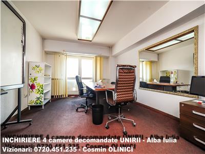 Apartament 4 camere mobilat, bld. unirii-alba iulia, pentru birouri