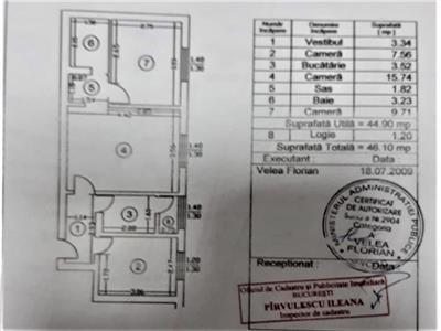 Apartament 3 camere 46mp   Berceni - Aleea Uioara  