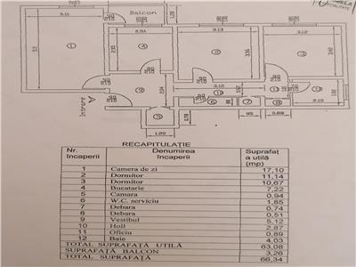 Apartament 3 camere 66mp   parcare   berceni   m. aparatorii patriei  