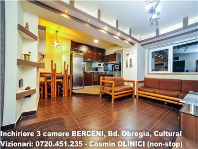 INCHIRIERE apartament 3 camere BERCENI, Bd. Obregia, premium, CT