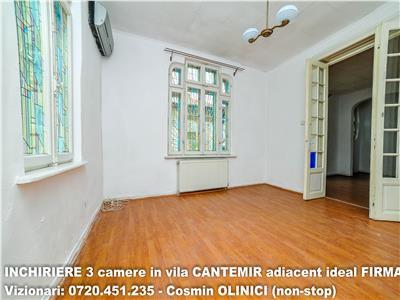 Inchiriere 3 camere in vila cantemir (adiacent) ideal firma