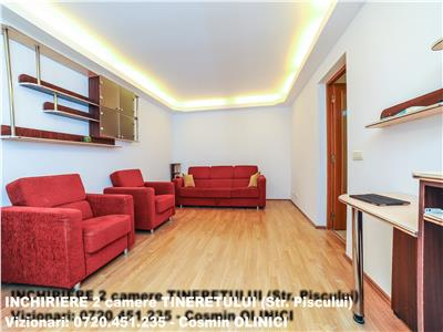 Inchiriere apartament 2 camere TINERETULUI (Piscului) - contr. ANAF