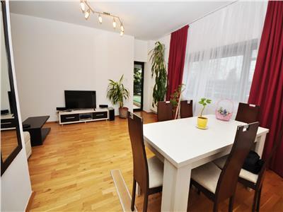 Inchiriere apartament 3 camere Baneasa Natura Residence curte proprie