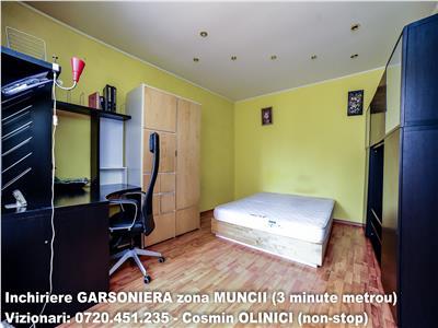 Garsoniera Piata Muncii, 3 minute metrou, centrala termică, bloc mixt