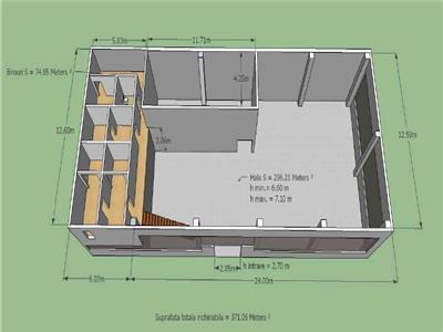 Inchiriere hala - spatiu depozitare / productie - Casa Presei Libere