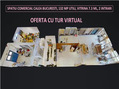 Inchiriez spatiu comercial pe Calea Bucuresti nr 106, 132 mp utili