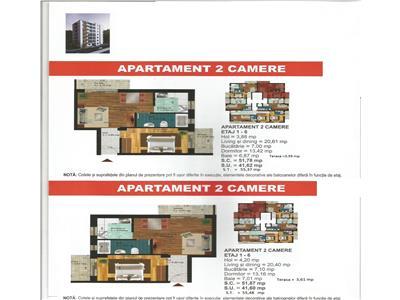Militari residence,apartament 2 camere 55,50 mp,tva inclus