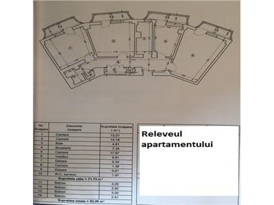 Oferta apartament 3 camere, decomandat, crangasi, calea crangasi