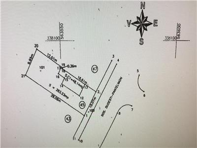 Oferta vanzare teren plus casa demolabila Sos. Dudesti-Pantelimon