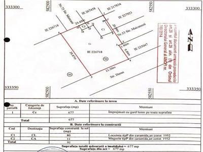 Oportunitate- teren de vanzare-damaroaia, 677 mp.strada durau 58.