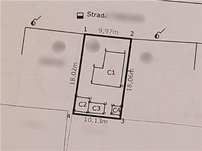 Teren 181 mp, cu constructii demolabile, zona Sos. Bucuresti-Magurele