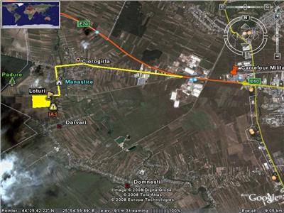 Teren 528 Mp - Ciorogarla - Manastire