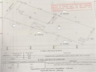 Teren constructii 444 mp deschidere 12 ml Str Amintirii Chitila