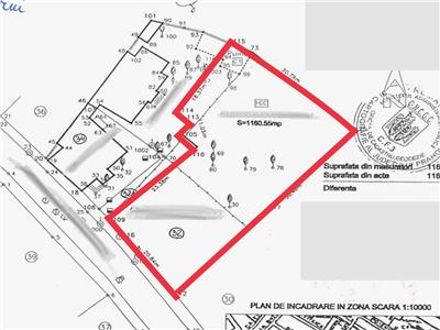 Teren intravilan, 1161 mp, deschidere 21 ml, Transilvaniei, Ploiesti