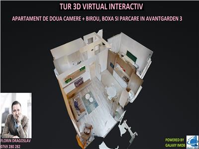 Tur virtual 3d interactiv - 2 camere plus dressing in avantgarden 3