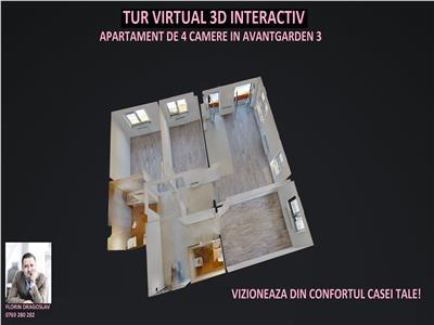 Tur virtual 3D interactiv - 4 camere Avantgarden 3