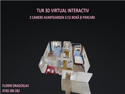 Tur virtual 3d interactiv, comision 0, et 1, 2 camere-prima inchiriere