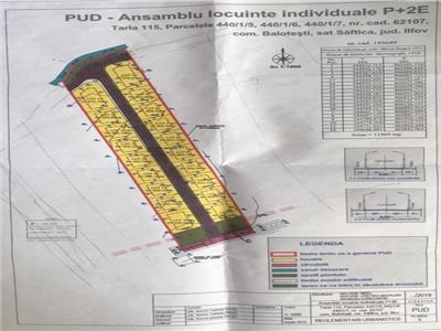 vand teren SAFTICA ,11900mp pud 19 locuinte P+2E