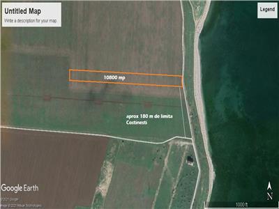 Vand teren Tuzla-Costinesti, 10000 mp cu deschidere la plaja