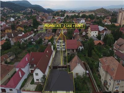 Vand vila si casa in zona centrala in aceeasi curte - pretabil birouri