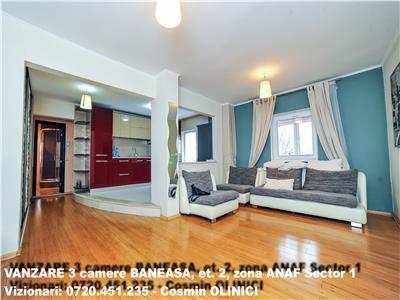 Vanzare 3 camere baneasa, et. 2, zona anaf sector 1, phoenicia hotel