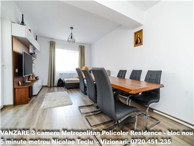 VANZARE 3 camere Metropolitan Policolor Residence - bloc nou, metrou