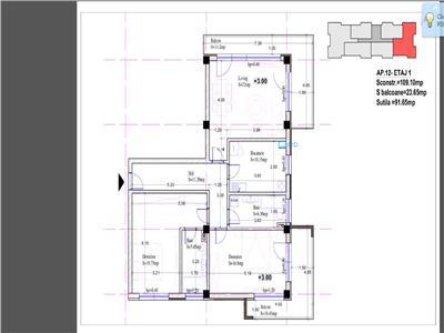 Vanzare apartament 3 camere 115mp  bloc nou Baneasa  Coralilor Petrom