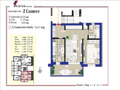 Vanzare apartament 2 camere Rahova, 0% comision