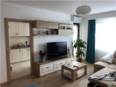 Vanzare apartament 3 camere baneasa greenfield mobilat etaj 3