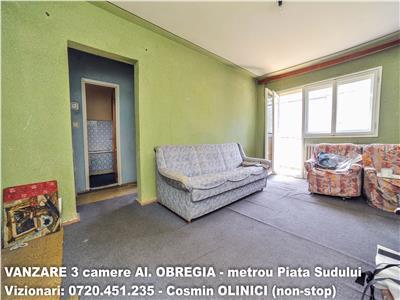 Vanzare apartament 3 camere bd. obregia - 10 min. metrou piata sudului