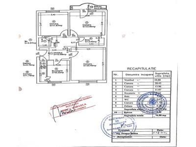 Vanzare apartament 3 camere decomandat  77 mp,zona doamna ghica