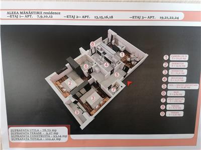 Vanzare apartament 3 camere decomandat Targoviste Aleea Manastirii