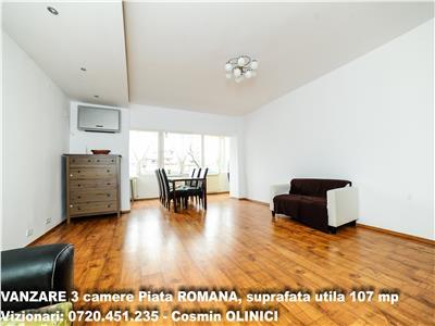 VANZARE apartament 3 camere Piata Romana, suprafata utila 107 mp