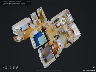 Vanzare apartament 4 camere 13 septembrie uranus