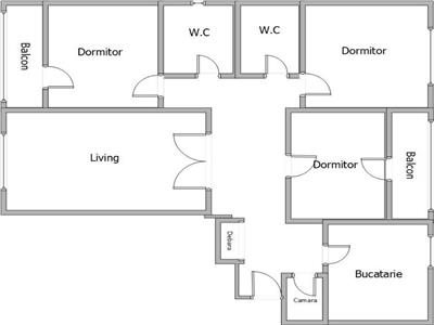 Vanzare apartament 4 camere tineretului parc
