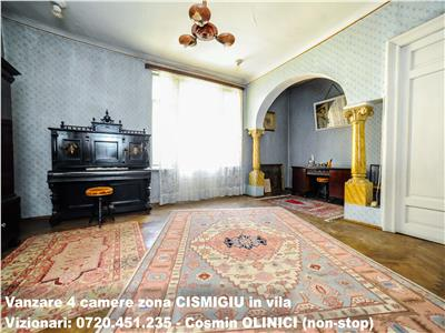 VANZARE apartament 4 camere zona CISMIGIU in vila