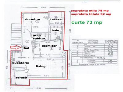 Vanzare apartament in vila de lux in cartier rezidential paulestii noi