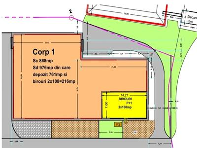 Vanzare Hala Centura-Mogosoaia 976 mp+teren 1704 mp Investitie