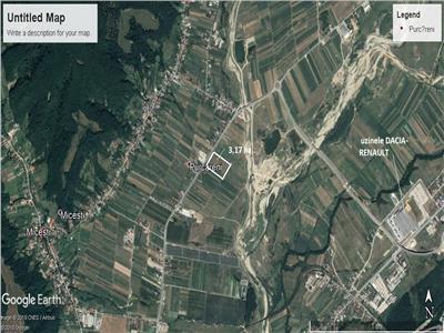 Vindem teren intravilan industrial zona uzina dacia 3.17 ha